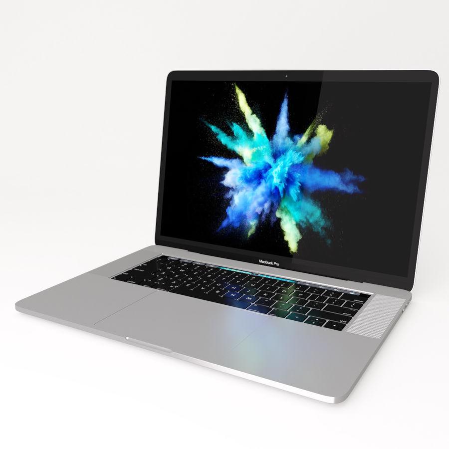 Barra táctil MacBook Pro de 15 pulgadas royalty-free modelo 3d - Preview no. 11