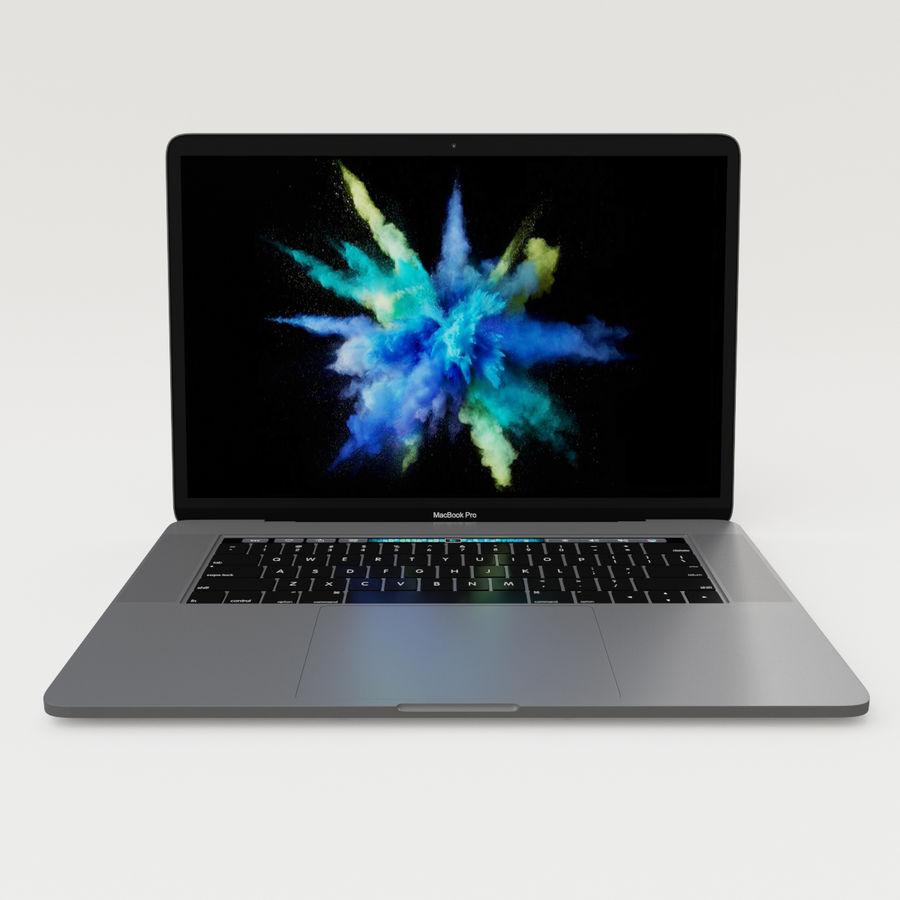 Barra táctil MacBook Pro de 15 pulgadas royalty-free modelo 3d - Preview no. 10