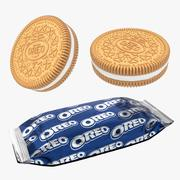 Oreo Golden Cookie And Snack Pack 3d model