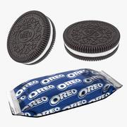 Paquete de galletas y bocadillos de chocolate Oreo modelo 3d