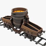 Hot Metal Ladle Transfer Car 3d model