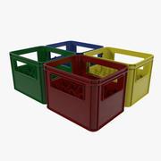 Establecer cajas de botellas de plástico modelo 3d