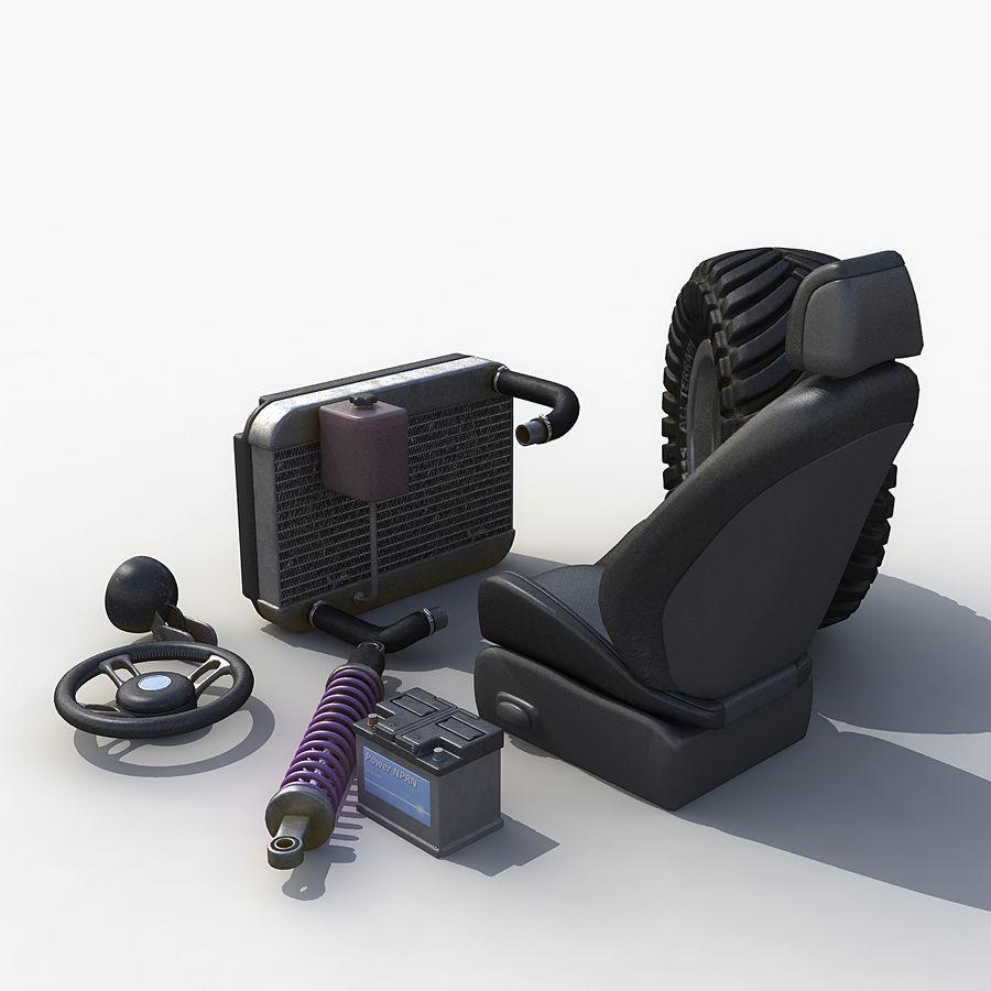 汽车零件套装 royalty-free 3d model - Preview no. 2