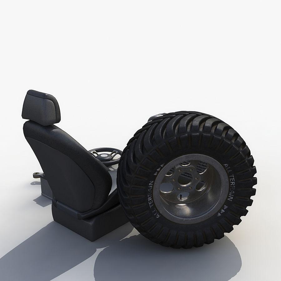 汽车零件套装 royalty-free 3d model - Preview no. 3