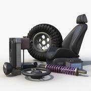 汽车零件套装 3d model