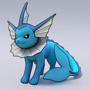 Vaporeon Pokemon 3d model