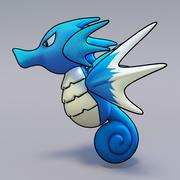 Seadra Pokemon 3d model