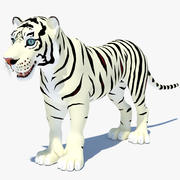Cartoon Tiger (vit) 3d model