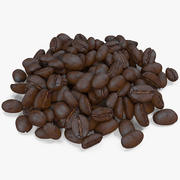 Жареный кофе в зернах 9 3d model