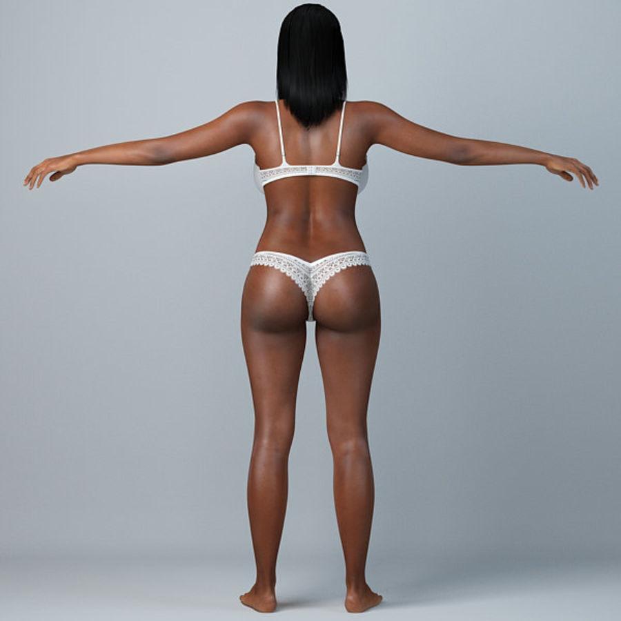 Skönhetkvinna 5 royalty-free 3d model - Preview no. 2
