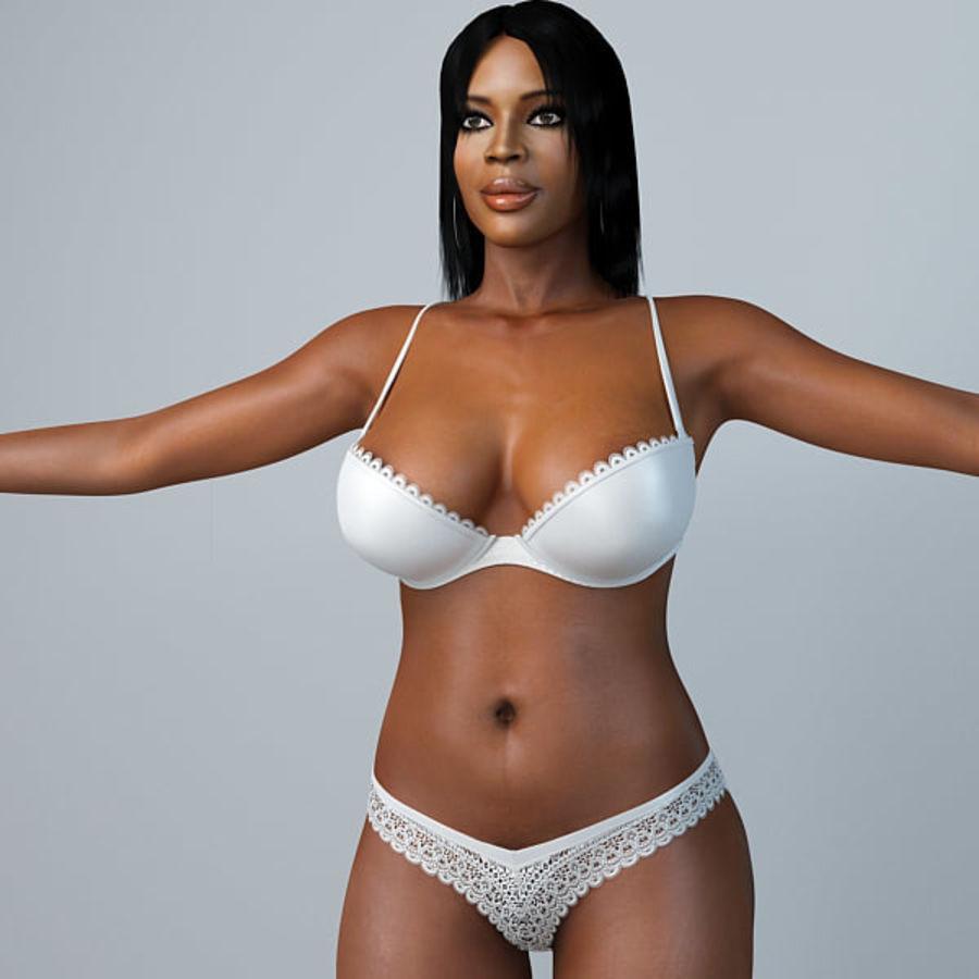 Skönhetkvinna 5 royalty-free 3d model - Preview no. 3