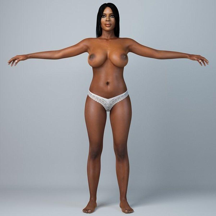 Skönhetkvinna 5 royalty-free 3d model - Preview no. 4
