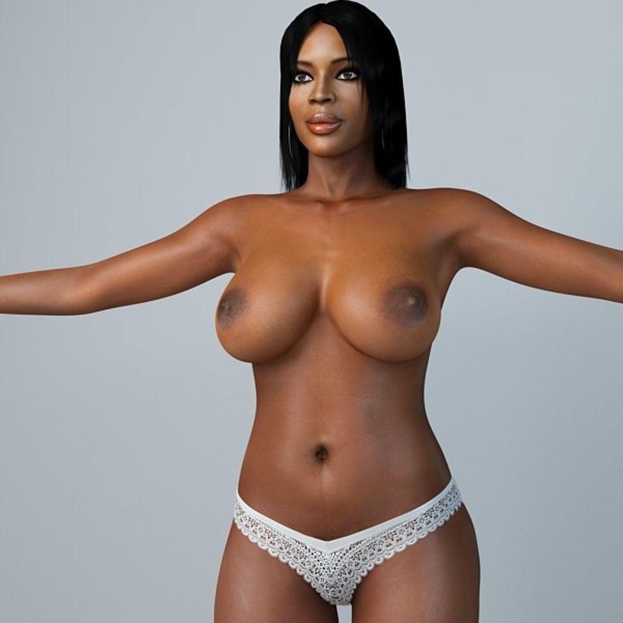 Skönhetkvinna 5 royalty-free 3d model - Preview no. 5