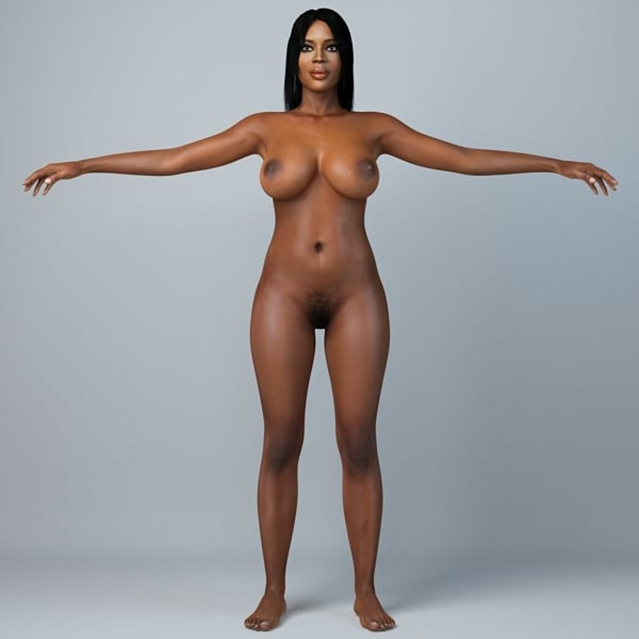 Skönhetkvinna 5 royalty-free 3d model - Preview no. 6
