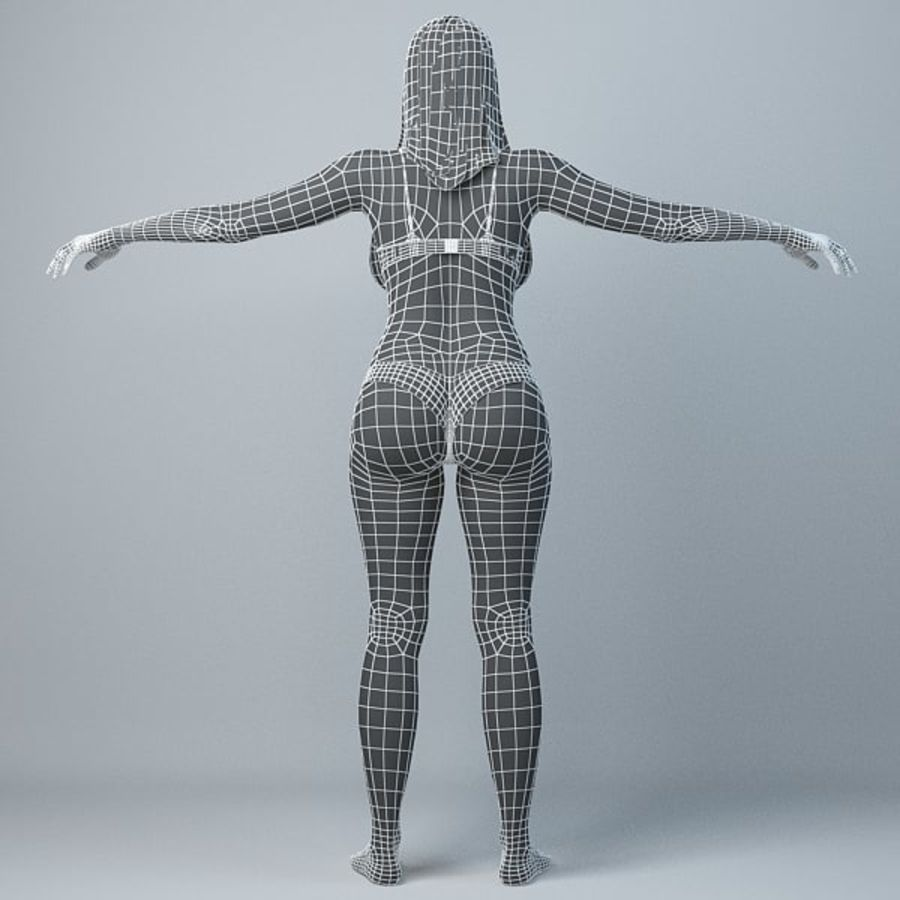 Skönhetkvinna 5 royalty-free 3d model - Preview no. 9