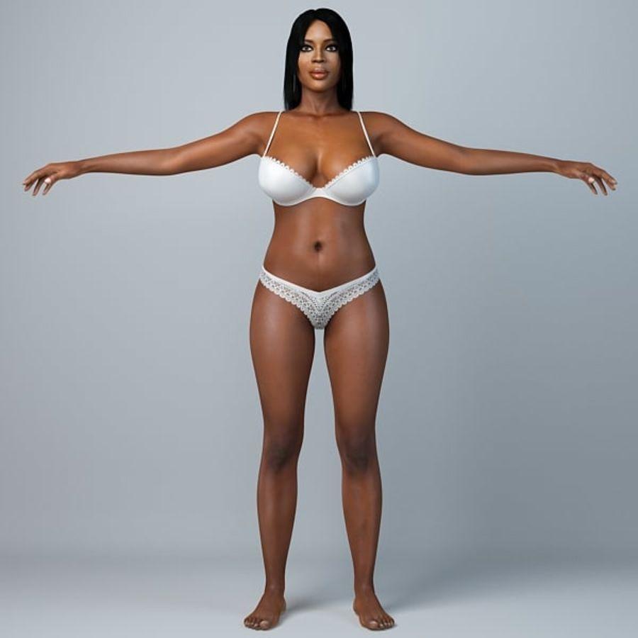 Skönhetkvinna 5 royalty-free 3d model - Preview no. 1