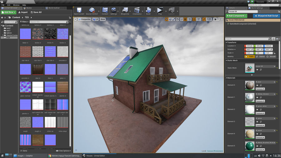 cottage houses royalty-free 3d model - Preview no. 11