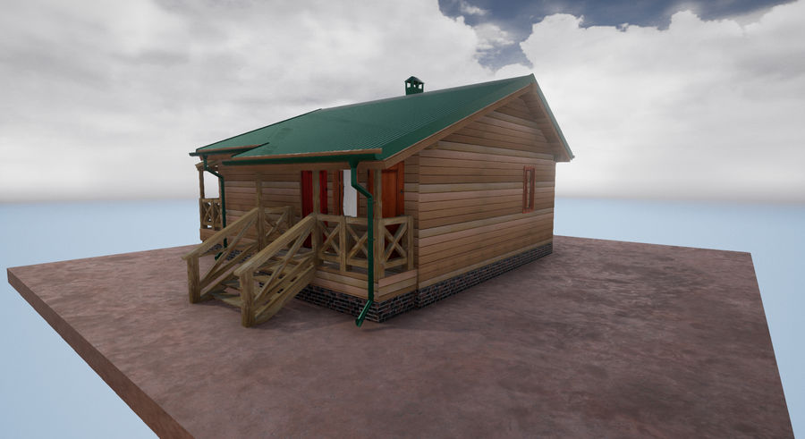 cottage houses royalty-free 3d model - Preview no. 10