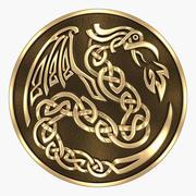 Keltischer Drache 3d model