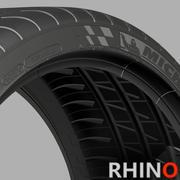 Michelin con pilota laterale 3D super sport 3d model