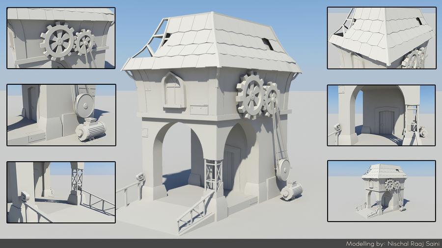 Architecture de jeu royalty-free 3d model - Preview no. 1