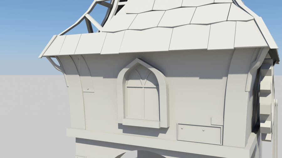 Architecture de jeu royalty-free 3d model - Preview no. 7