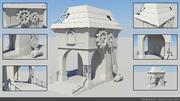 Gaming-Architektur 3d model