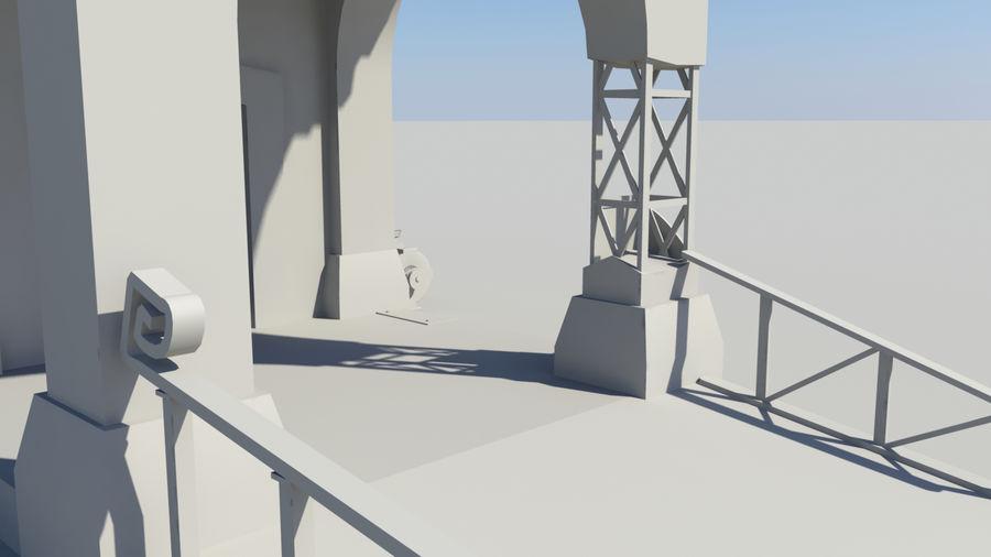 Architecture de jeu royalty-free 3d model - Preview no. 4