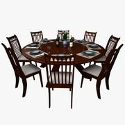 Dining Table Set 05 3d model