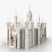 Gotik Katedrali 3d model