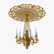 Victorian Candle Chandelier 3d model