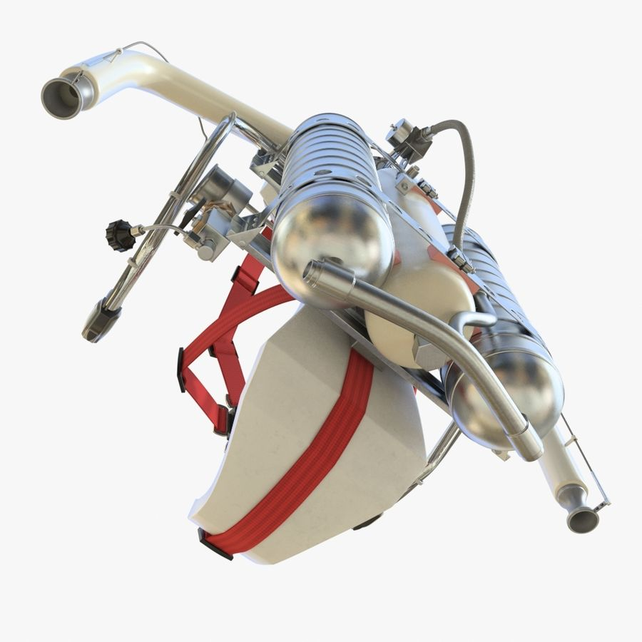 Jet Pack 01 royalty-free 3d model - Preview no. 11