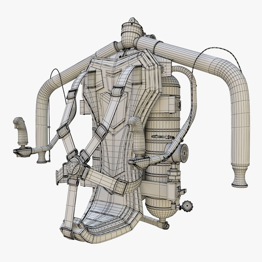 Jet Pack 01 royalty-free 3d model - Preview no. 13