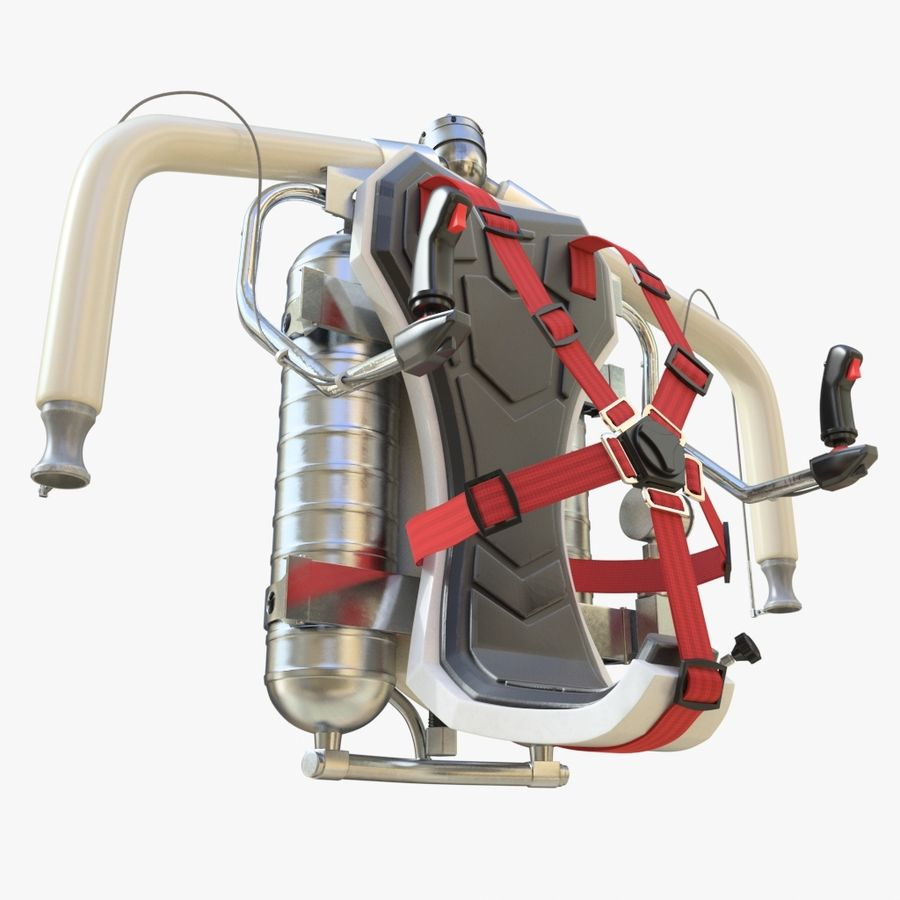 Jet Pack 01 royalty-free 3d model - Preview no. 9