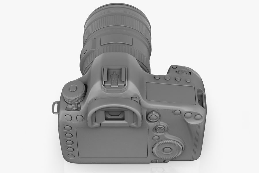 Spiegelreflexkamera Canon EOS 5D Mark III royalty-free 3d model - Preview no. 8
