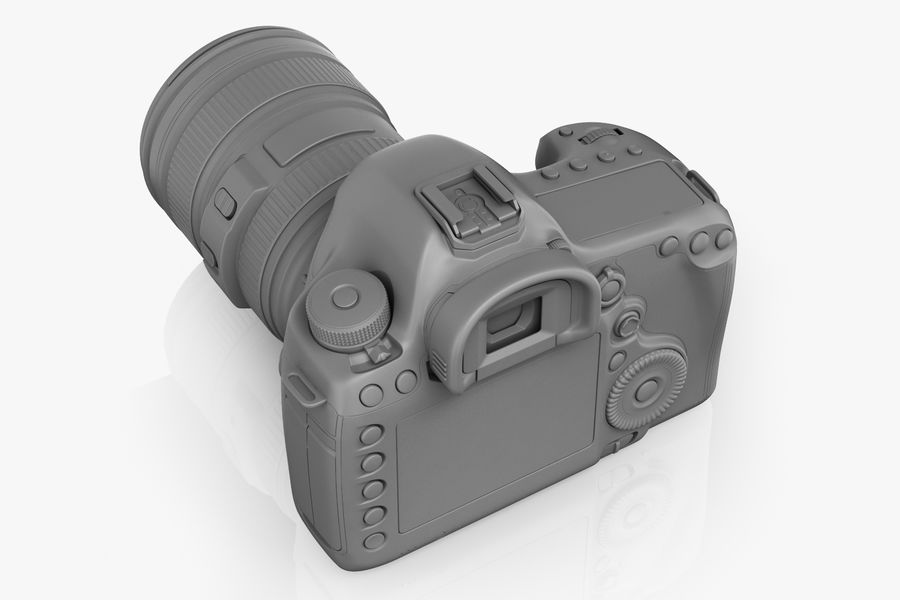 Spiegelreflexkamera Canon EOS 5D Mark III royalty-free 3d model - Preview no. 10