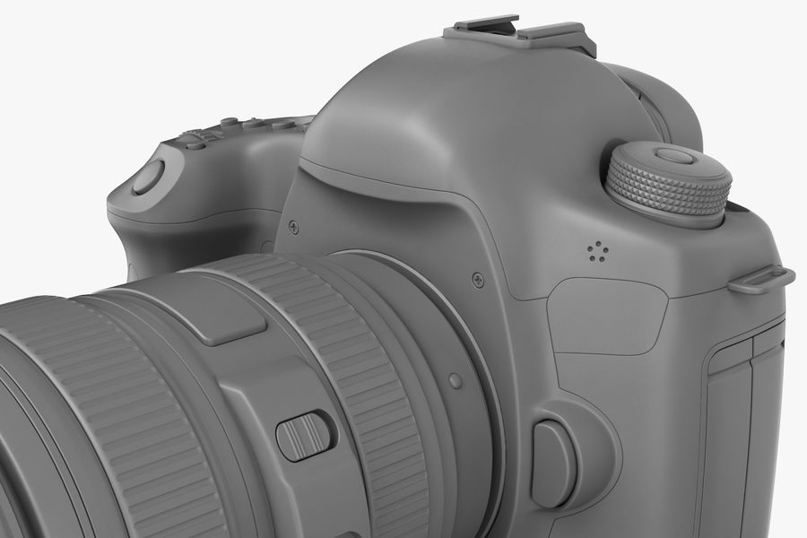 Spiegelreflexkamera Canon EOS 5D Mark III royalty-free 3d model - Preview no. 13