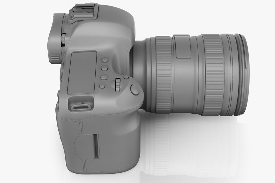 Spiegelreflexkamera Canon EOS 5D Mark III royalty-free 3d model - Preview no. 12