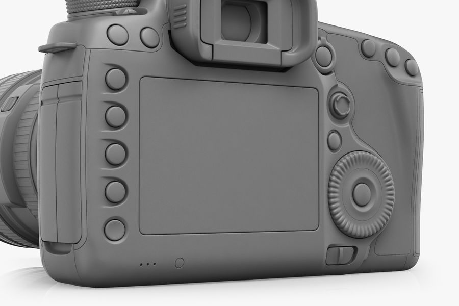 Spiegelreflexkamera Canon EOS 5D Mark III royalty-free 3d model - Preview no. 15