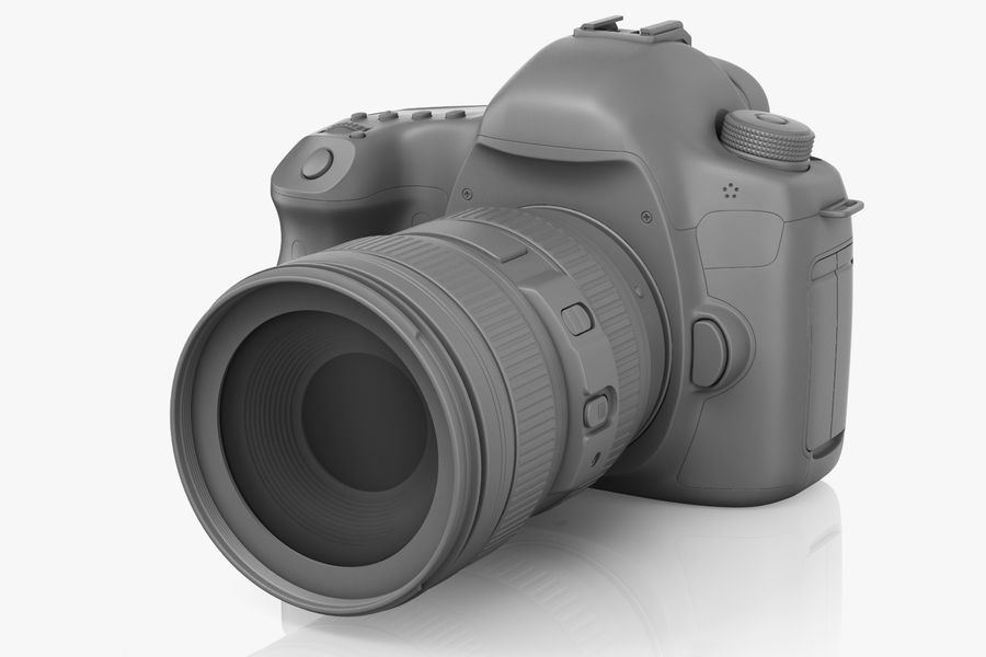Spiegelreflexkamera Canon EOS 5D Mark III royalty-free 3d model - Preview no. 3