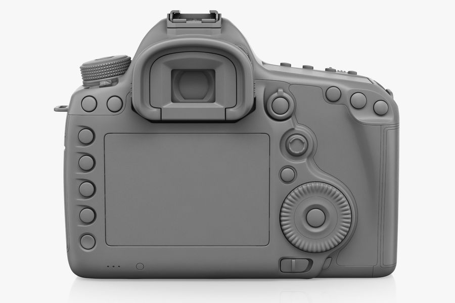 Spiegelreflexkamera Canon EOS 5D Mark III royalty-free 3d model - Preview no. 9