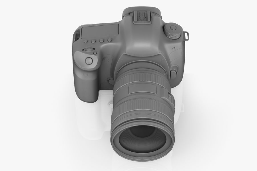 Spiegelreflexkamera Canon EOS 5D Mark III royalty-free 3d model - Preview no. 6