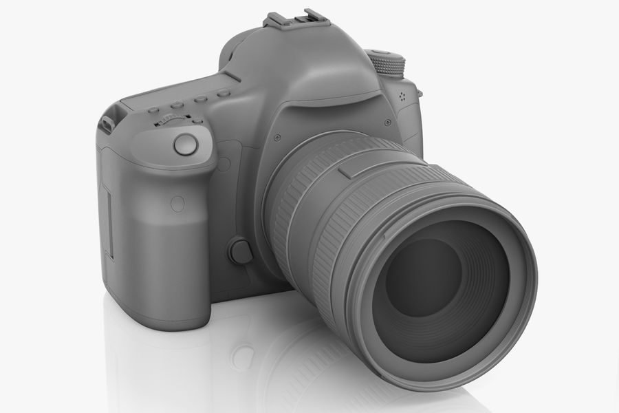 Spiegelreflexkamera Canon EOS 5D Mark III royalty-free 3d model - Preview no. 4