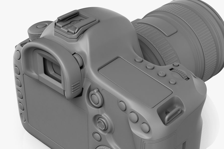 Spiegelreflexkamera Canon EOS 5D Mark III royalty-free 3d model - Preview no. 16