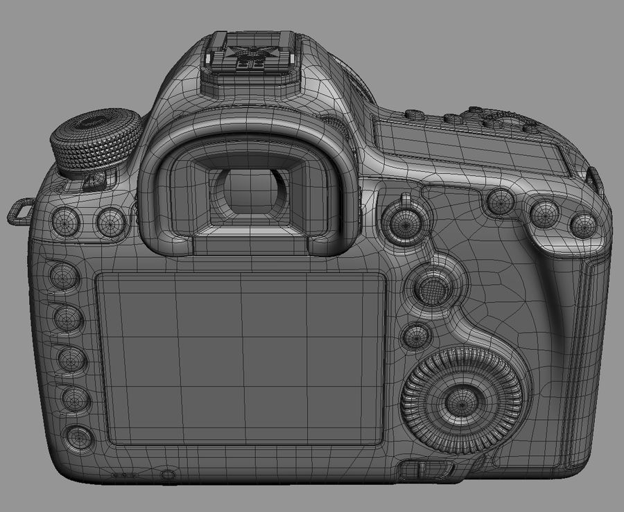 Spiegelreflexkamera Canon EOS 5D Mark III royalty-free 3d model - Preview no. 21