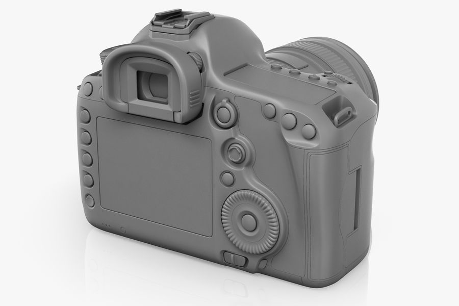 Spiegelreflexkamera Canon EOS 5D Mark III royalty-free 3d model - Preview no. 11