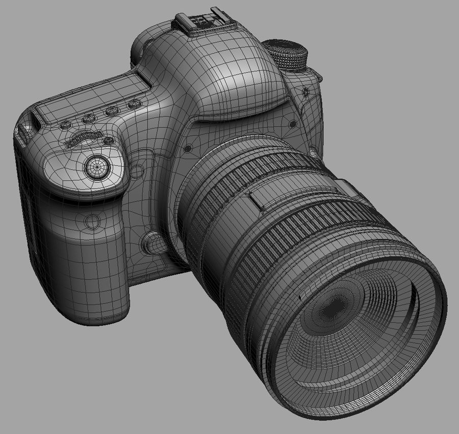 Spiegelreflexkamera Canon EOS 5D Mark III royalty-free 3d model - Preview no. 19