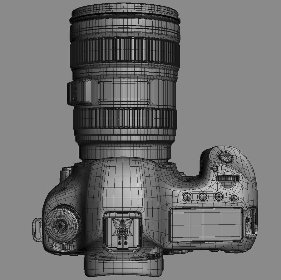Spiegelreflexkamera Canon EOS 5D Mark III royalty-free 3d model - Preview no. 20