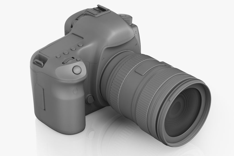 Spiegelreflexkamera Canon EOS 5D Mark III royalty-free 3d model - Preview no. 7