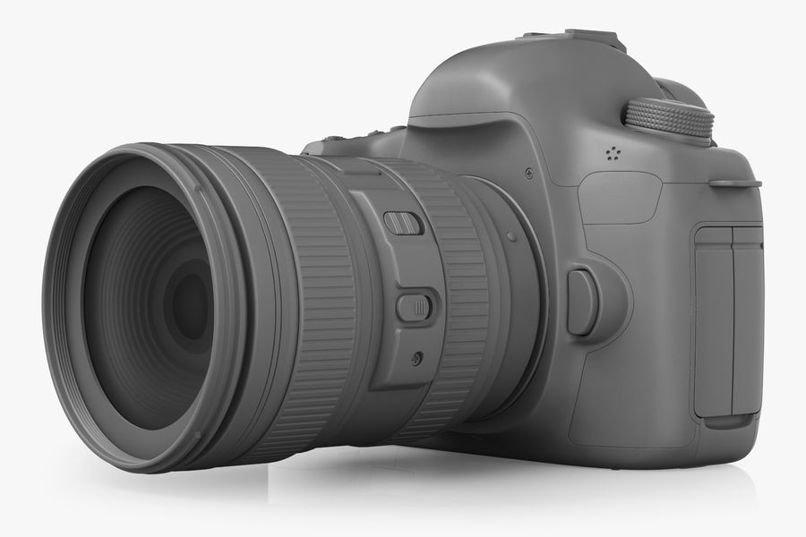 Spiegelreflexkamera Canon EOS 5D Mark III royalty-free 3d model - Preview no. 5